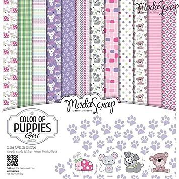 Elizabeth Craft Designs colore dei cuccioli ragazze confezione di carta,, 6x 15,2cm RenkalikMSA15BCOPG