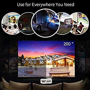 Android Smart Wireless Projector 1080P Full HD Support, 4200 High Lumen LED WiFi Video Projector Home Theater Support HDMI Airplay for iPhone Tablet Laptop TV PS4 Xbox DVD Media Player