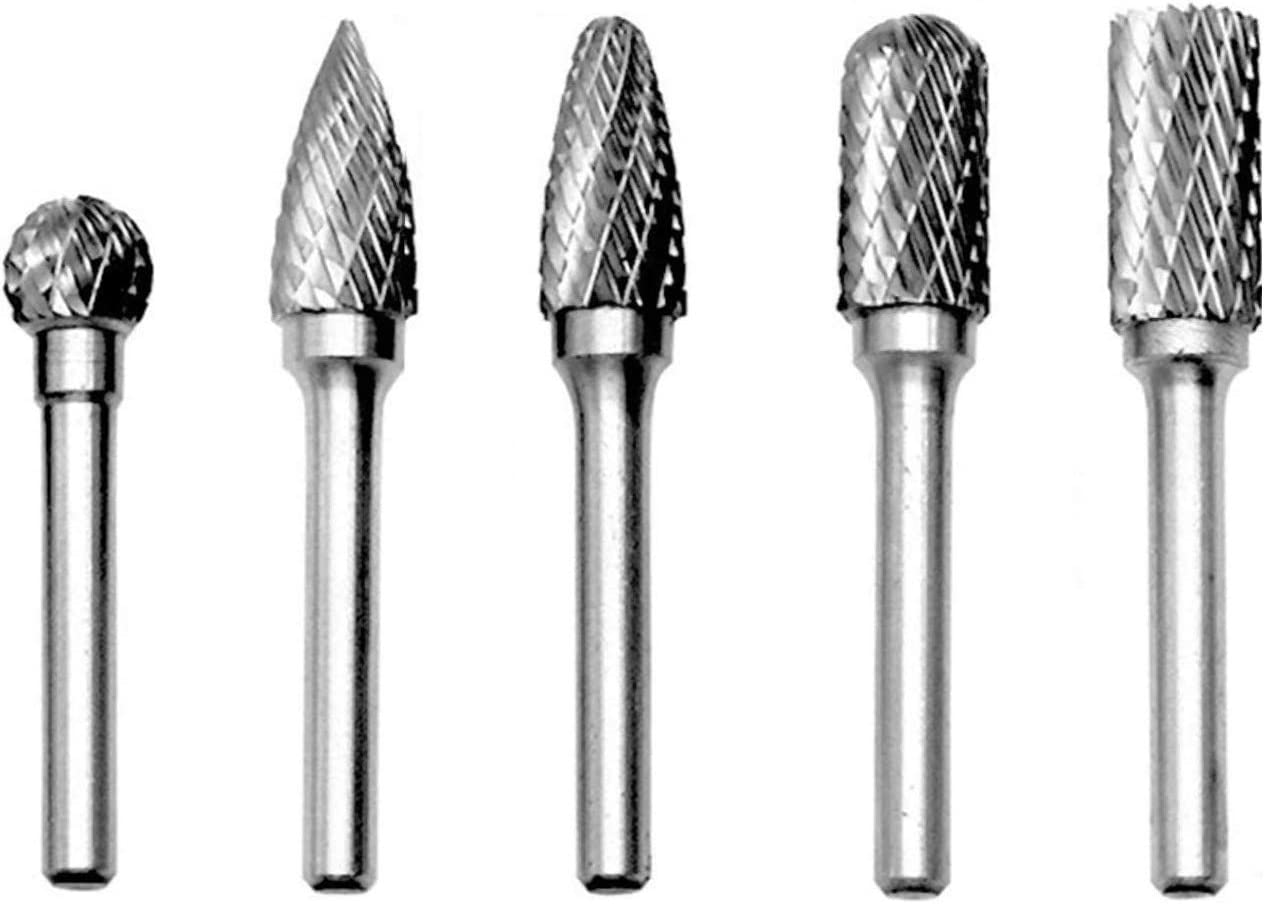 Metal Rotary Bit 4pcs Cemented Carbide Rotary Files Double Cut Burr Set 6mm Shank Metalworking Tool