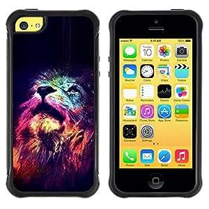 Suave TPU GEL Carcasa Funda Silicona Blando Estuche Caso de protección (para) Apple Iphone 5C / CECELL Phone case / / Stars King Africa Night Pink Universe /