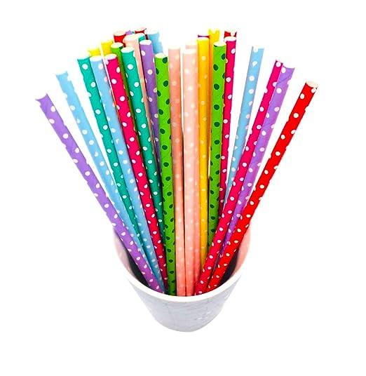 Pajitas de papel biodegradables desechables, diseño de ...