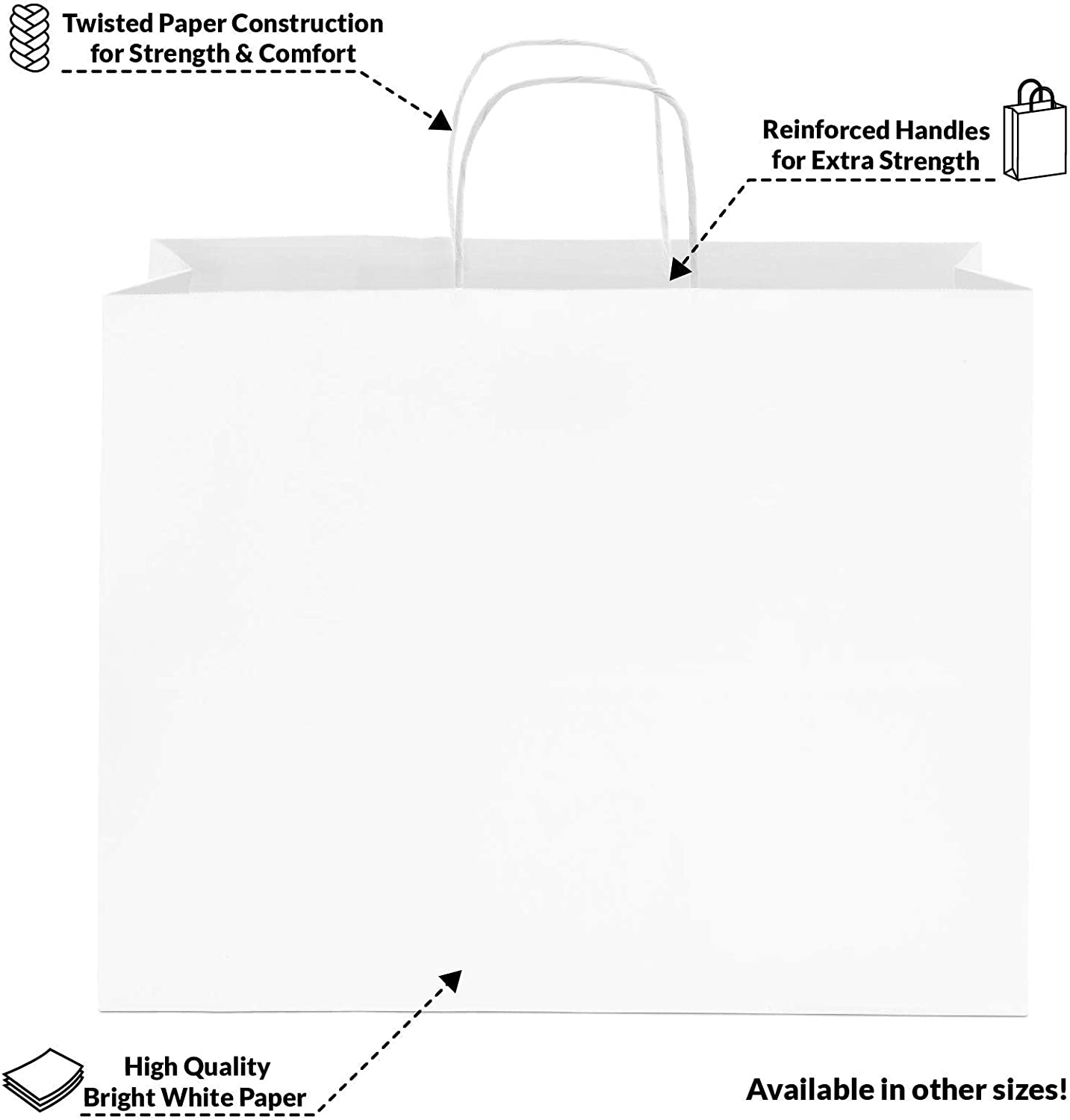 Details about  /Empty Godiva Gift//Shopping Bag Large White 15 x 16  x 9.5 Glossy Paper
