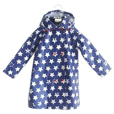 Mignon Bébé Veste de pluie imperméable Infant Toddler pluie Porter étoiles bleues S