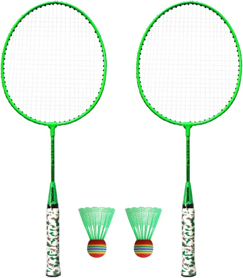 Outdoor Sport Badminton Rackets Badminton Set 1 Pair Badminton Rackets with Balls 2 Player Badminton Set for Children Indoor Outdoor Sport Game Workout Accessories