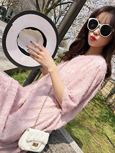 Manchon Rose Jupe Jin lache Pink Robe M Moyen Longueur Longue MiGMV sme Jupe 2018 Robes Genou wYqPUP