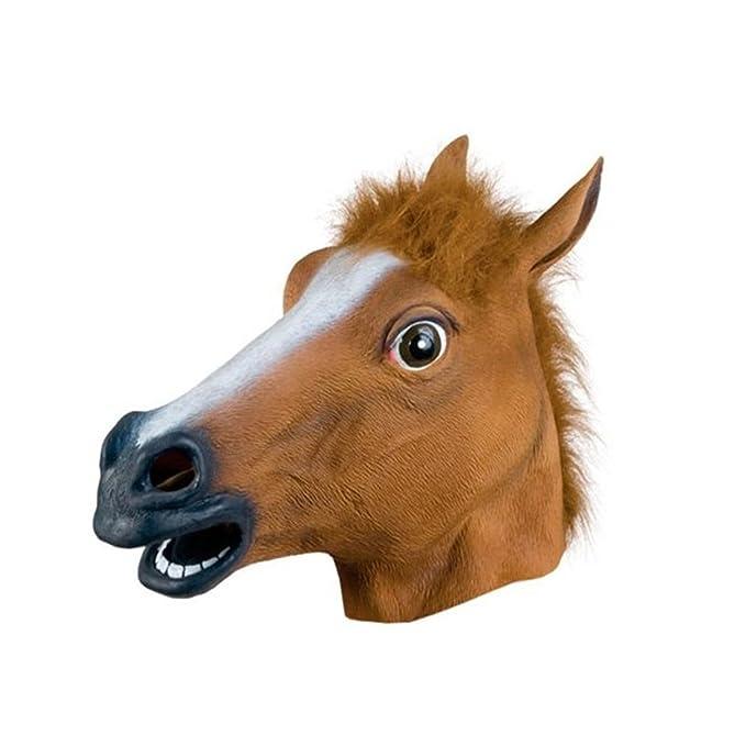 Partiss Máscara de caballo para Halloween, máscara de látex