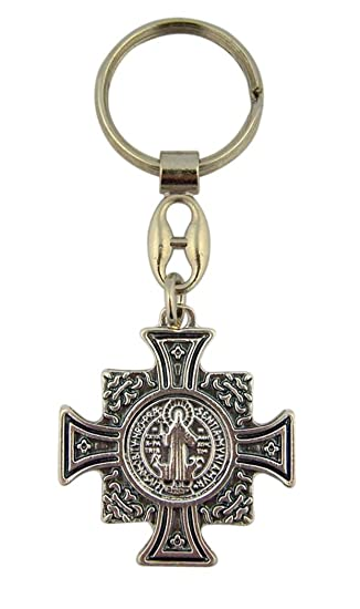 Amazon.com: Plata tono – Colgante medalla de SAN Benito De ...