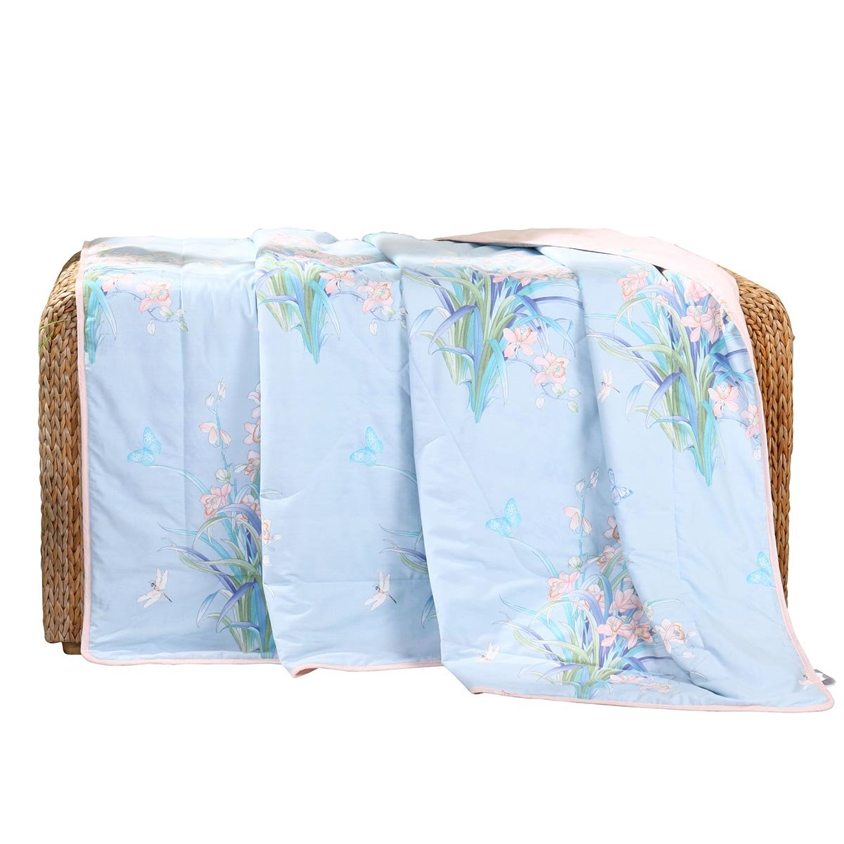 Double air-conditioned quilt, cool summer quilt, thin quilt core, Qing Gu orlan summer quilt, bedding (Size : 150200cm)
