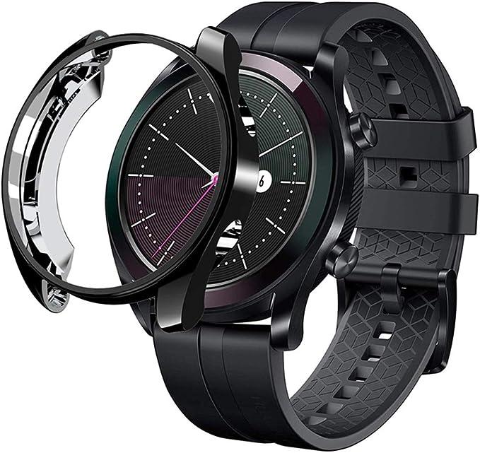 Funda Protectora de visualización para Huawei Watch GT 2 42 mm 46 mm Smart Watch All Around Bumper a Prueba de arañazos a Prueba de Golpes Protector: Amazon.com.mx: Ropa, Zapatos y Accesorios