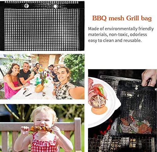 CPSW High Temperature Resistant Barbecue Bag pour Grill PTFE Grille-Pain Sacs Four Poches Barbecue (40X27CM)