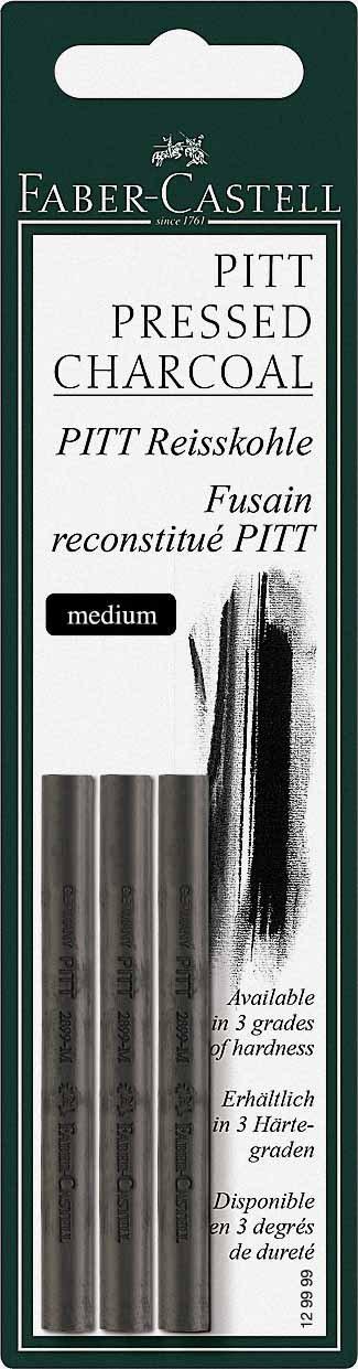 confezione da 3 pezzi Carboncino morbido da disegno Pitt Faber-Castell 129997