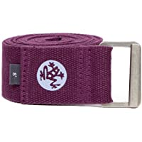 Manduka Align Yoga Strap – Strong, Durable Cotton Webbing with Adjustable Buckle for Secure, Slip-Free Support for…