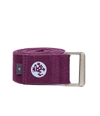 Manduka Align Yoga Strap – Strong, Durable Cotton Webbing with Adjustable Buckle for Secure, Slip-Free Support for Stretching, Yoga, Pilates and ...