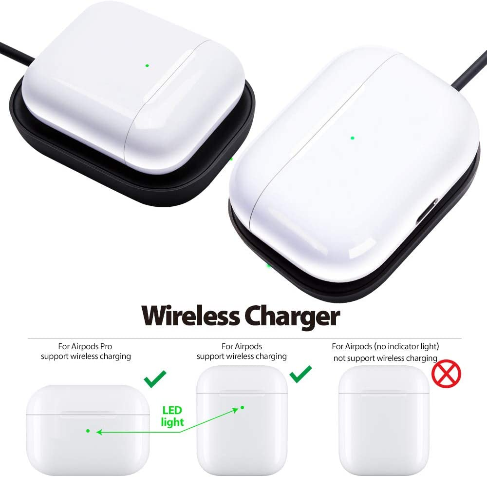 Wireless Charger for Airpods//Airpods Pro Case Wireless Charger Pad for Airpods Pro Charger White Wireless Charging Station for Airpods Wireless Charging Case FutureCharger Airpods pro Charger