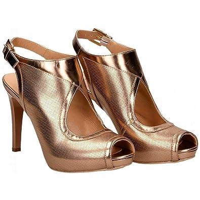 super speciali design raffinato speciale per scarpa Nero Giardini 07865 Sandalo Scarpa Donna spuntata con Tacco oblò ...