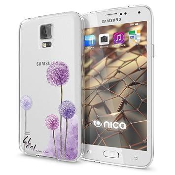NALIA Funda Carcasa Compatible con Samsung Galaxy S5 S5 Neo, Motivo Design Movil Protectora Ultra-Fina Silicona Cubierta, Goma Estuche Bumper Ligera ...