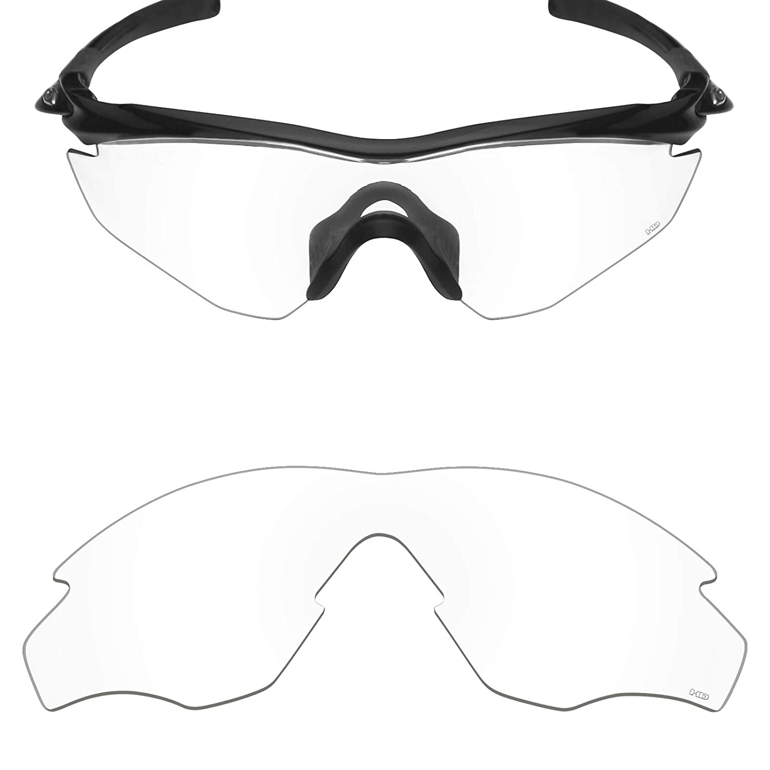 0d80c057edb Amazon.com  Mryok+ Polarized Replacement Lenses for Oakley M2 Frame   M2  Frame XL - HD Clear  Clothing