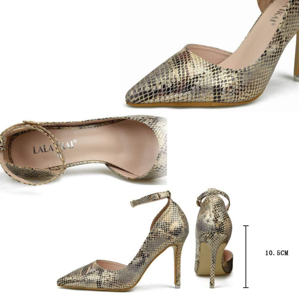 PLNXDM Leopard Spitzen High Heels Heels Heels Sexy Club Pumps Party Schuhe Abendschuhe Brautjungfer 6dfba0