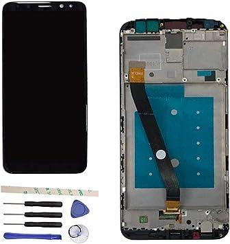 Draxlgon Pantalla LCD Táctil Asamblea digitalizador con Marco para Huawei Mate 10 Lite/Nova 2i/Maimang 6/G10 RNE-AL00/G10 Plus/RNE-L22 RNE-L02 RNE-L21 RNE-L01 RNE-L23 RNE-AL00 5.9