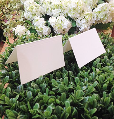 Blank Fold Over Tent Card White Pack of 50 (Tent Cards)