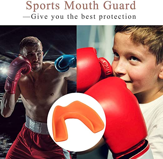 4x Clear Moldable Mouth Guards Tooth Protector Basketball Boxing Soccer BPA Free