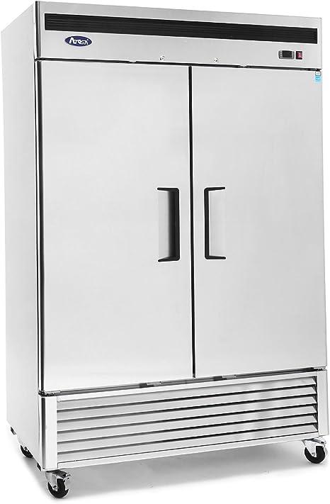 Refrigerador comercial, ATOSA MBF8507 doble de 2 puertas de acero ...