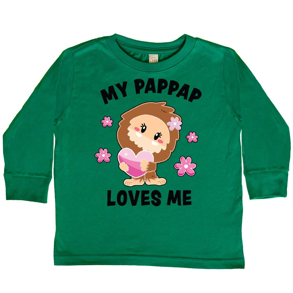 inktastic My Pappap Loves Me with Bigfoot Toddler Long Sleeve T-Shirt