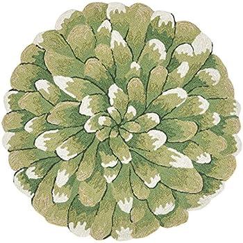 Amazon Com Area Rugs Green Chrysanthemum Indoor Outdoor