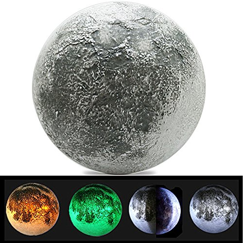 DAERDUO Indoor LED Wall Moon Lamp Kids Wall Lamp With Remote Relaxing Healing Super Moon Night Lights For Art Room Nursery Bedroom Wall Lighting