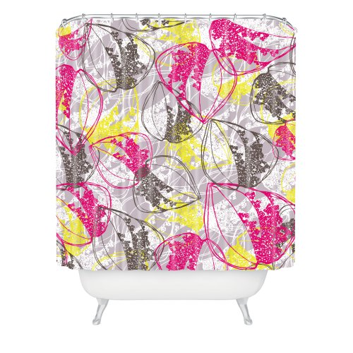 Deny Designs Rachael Taylor Organic Retro Leaves Shower Curtain, 69