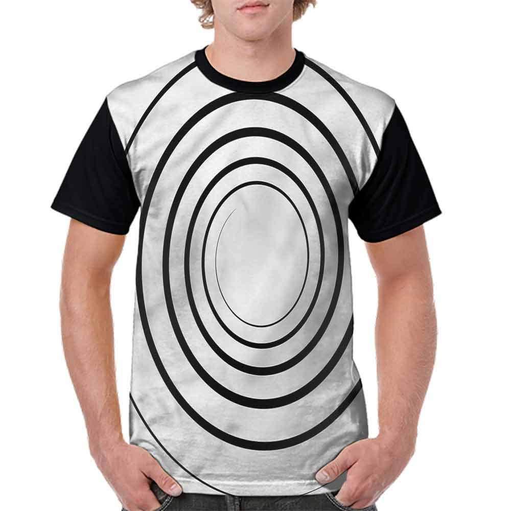 Classic T-Shirt,Spiral Shape Monochrome Fashion Personality Customization