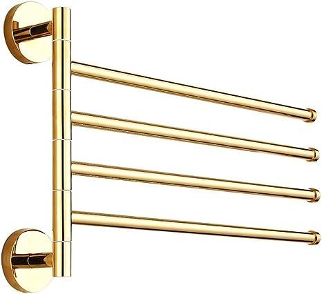 Gold Wall Mounted Towel Rack Rail Holder Storage Shelf Bathroom Home Accessory