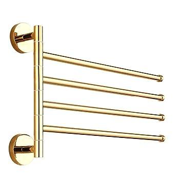Weare Home Luxus Modern Deko Gold Finished 4 ärmig Drehend Handtuchhalter  Handtuchstange Wandmontag Aus Hochwertig