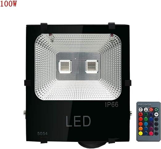 XEX Foco LED Proyector, Luz Impermeable para Exteriores De Color Verde para Jardín, con Cambio De Color RGB A Prueba De Agua, Al Aire Libre (Color : 100W): Amazon.es: Hogar
