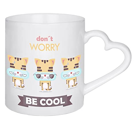 "Taza de artboxONE Comic ""Don? t Worry, Be Cool. Gatos"""