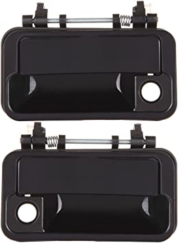 2pcs SCITOO Door Handles Exterior Outside Outer Front Right Left Side fits Pontiac Firefly 1989-1994 Black