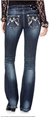 Miss Me Shimmering M Boot Cut Jeans
