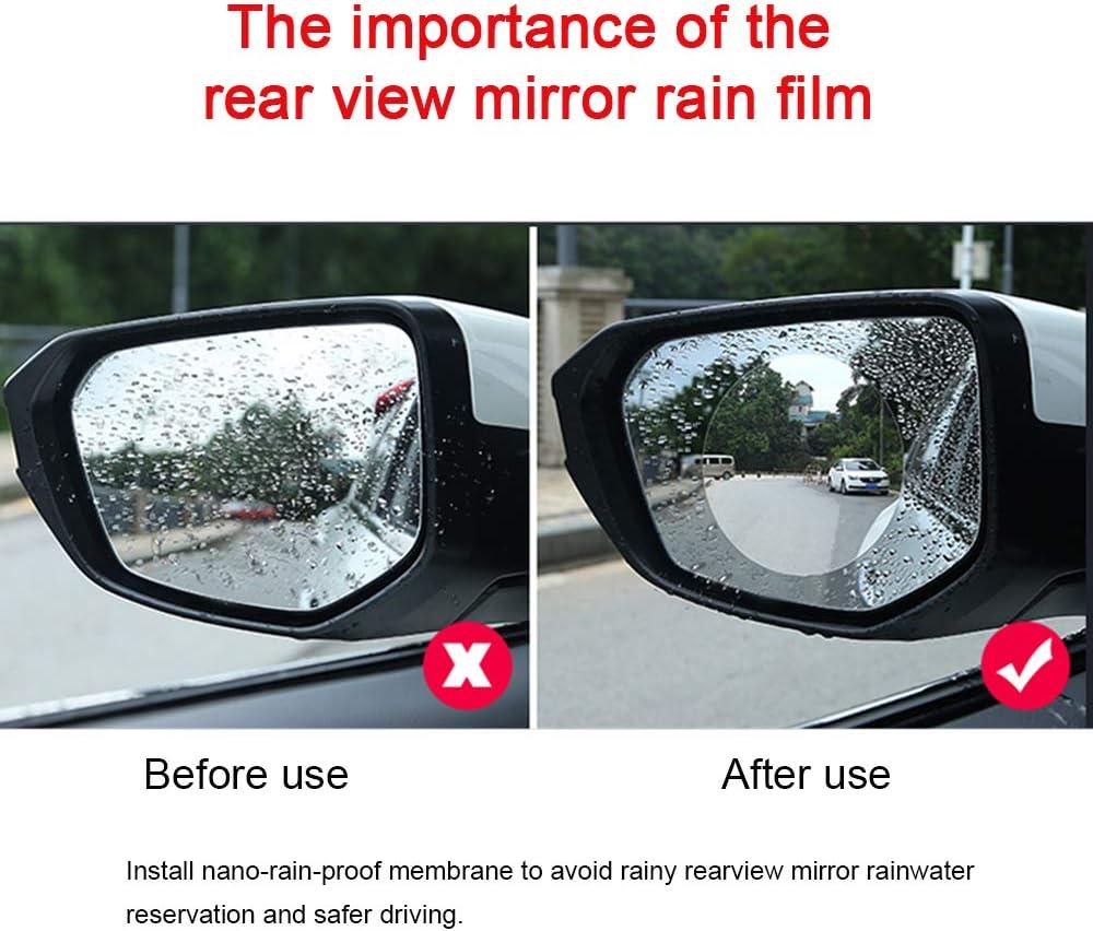 Auto R/ückspiegel Wasserfeste Membran HD Anti Glare Anti Fog Film f/ür Auto 95mm*95mm Auto R/ückspiegel Schutzfolie