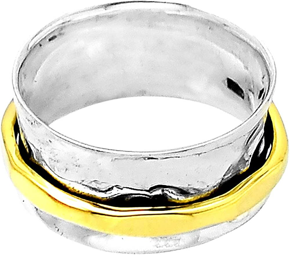 8 Desiregem Anti Anxiety and Worry Less Meditation Spinning 925 Sterling Silver Ring Size DGR1047