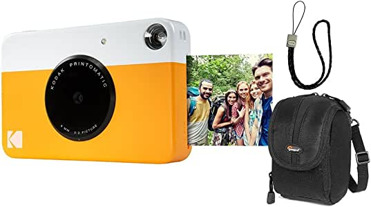 Câmera instantânea Kodak Printomatic Amarela + Acessórios