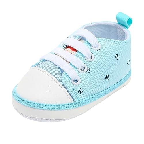 K-youth Zapatos Bebe Niño Primeros Pasos 0-12 Mes Lona Zapatillas de Deporte
