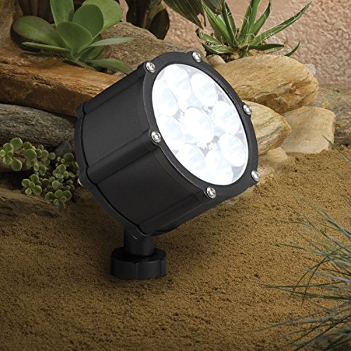 Kichler Lighting 15752BKT LED Accent Light 9-Light Low Voltage 35 Degree Flood Light, Textured Black with Clear Tempered Glass Lens