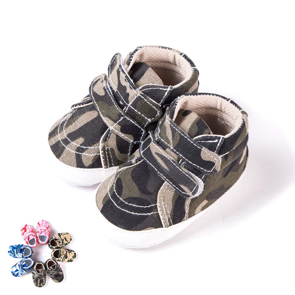 Morbuy Zapatos de Primeros Pasos Bebe Camuflaje Recié n Nacido Cuna Suela Niñ o y Niñ a Blanda Antideslizante Zapatillas