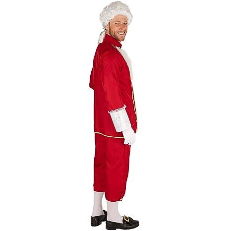 dressforfun Disfraz Noble Veneciano | Pantalones cómodos y Elegantes | Parte Superior de ensueño y Muy Elegante | Incl. Medias (L | no. 301391)