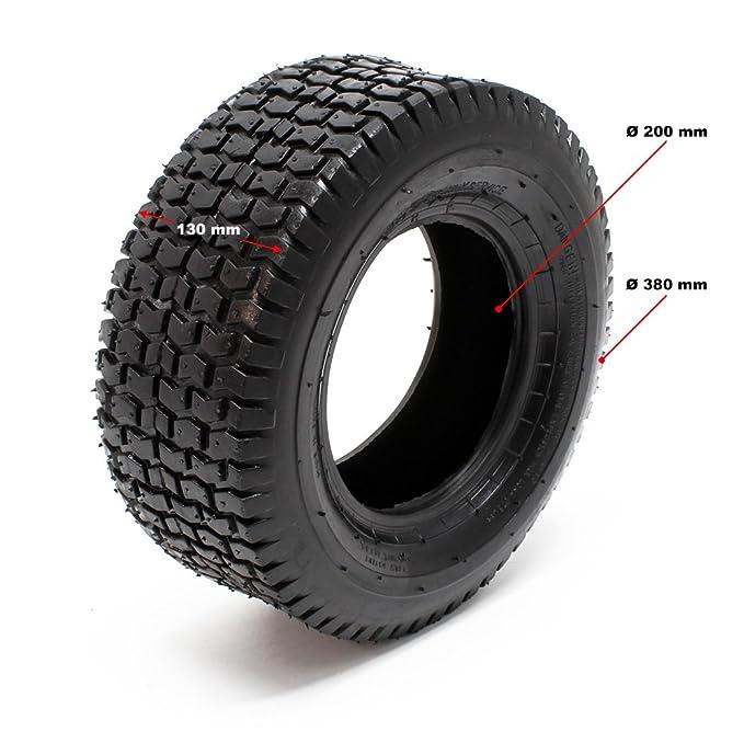 WilTec Neumáticos para segadora de jardín 16x6.50-8 4pr con cámara ...