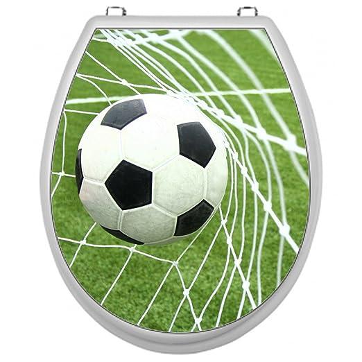 SHIRT-TO-GO Pegatina para tapa de WC, diseño de balón marcando gol ...
