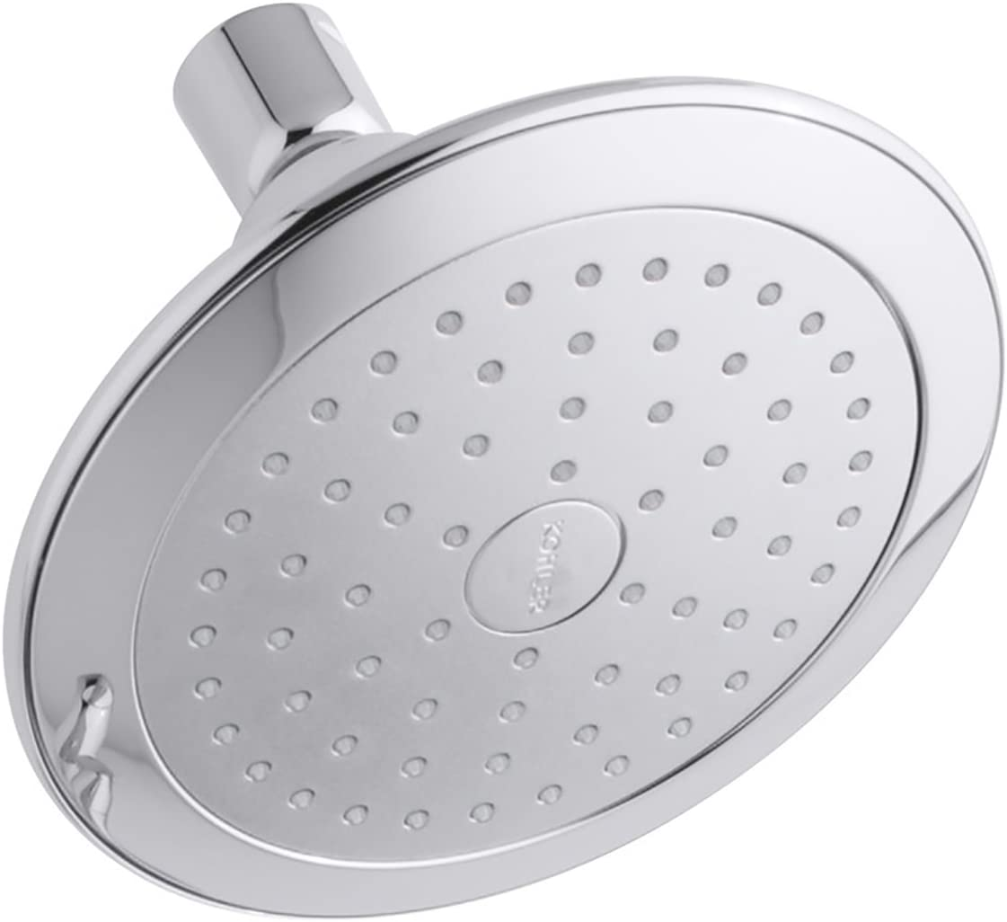 KOHLER K-45123-CP Alteo 2.5 GPM Single-Function Wall-Mount Showerhead with Katalyst Spray, Polished Chrome