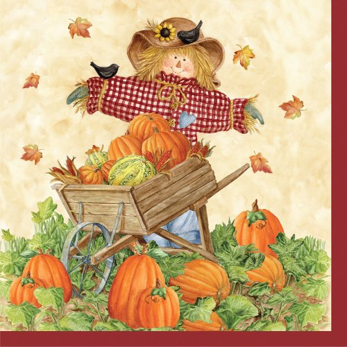 Creative Converting 18 Count Pumpkin Fest Beverage Napkins -