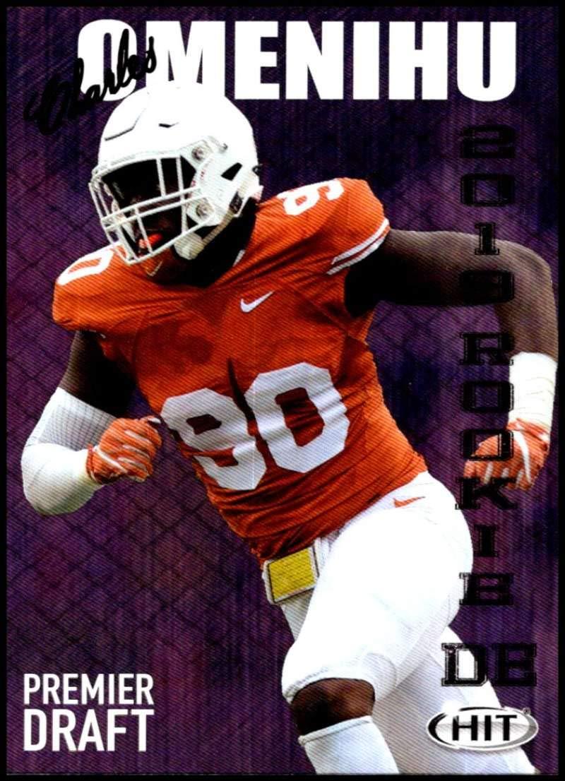 2019 SAGE Hit Premier Draft #29 Charles Omenihu Texas Football Card