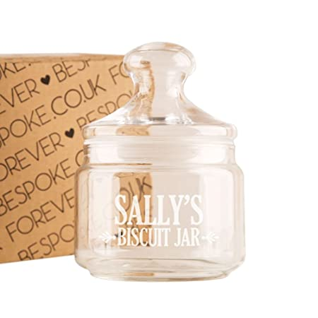 personalised name s biscuits engraved glass jar new home gift ideas